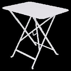Wetterfeste Bistrotische 77 x 57 cm klappbar Metall fermob Baumwoll weiß