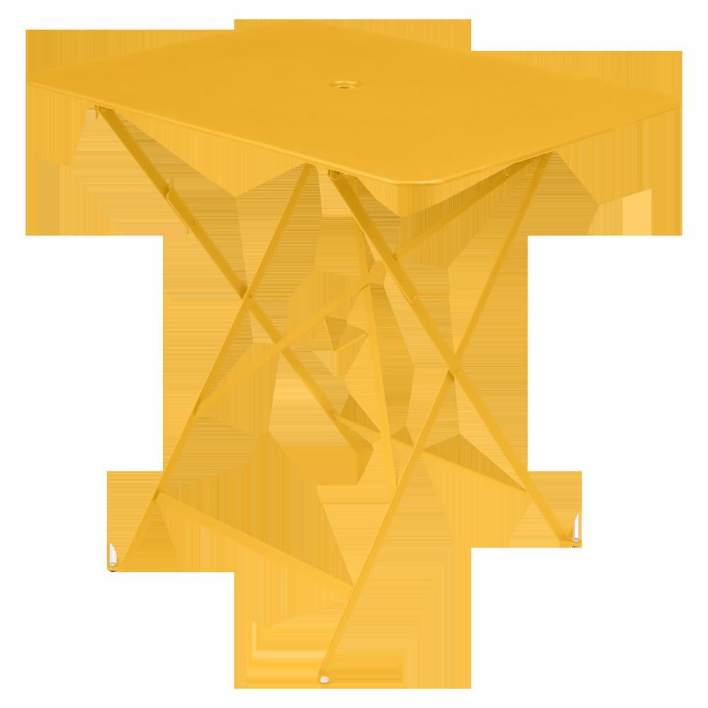 Wetterfeste Bistrotische 77 x 57 cm klappbar Metall fermob honig gelb