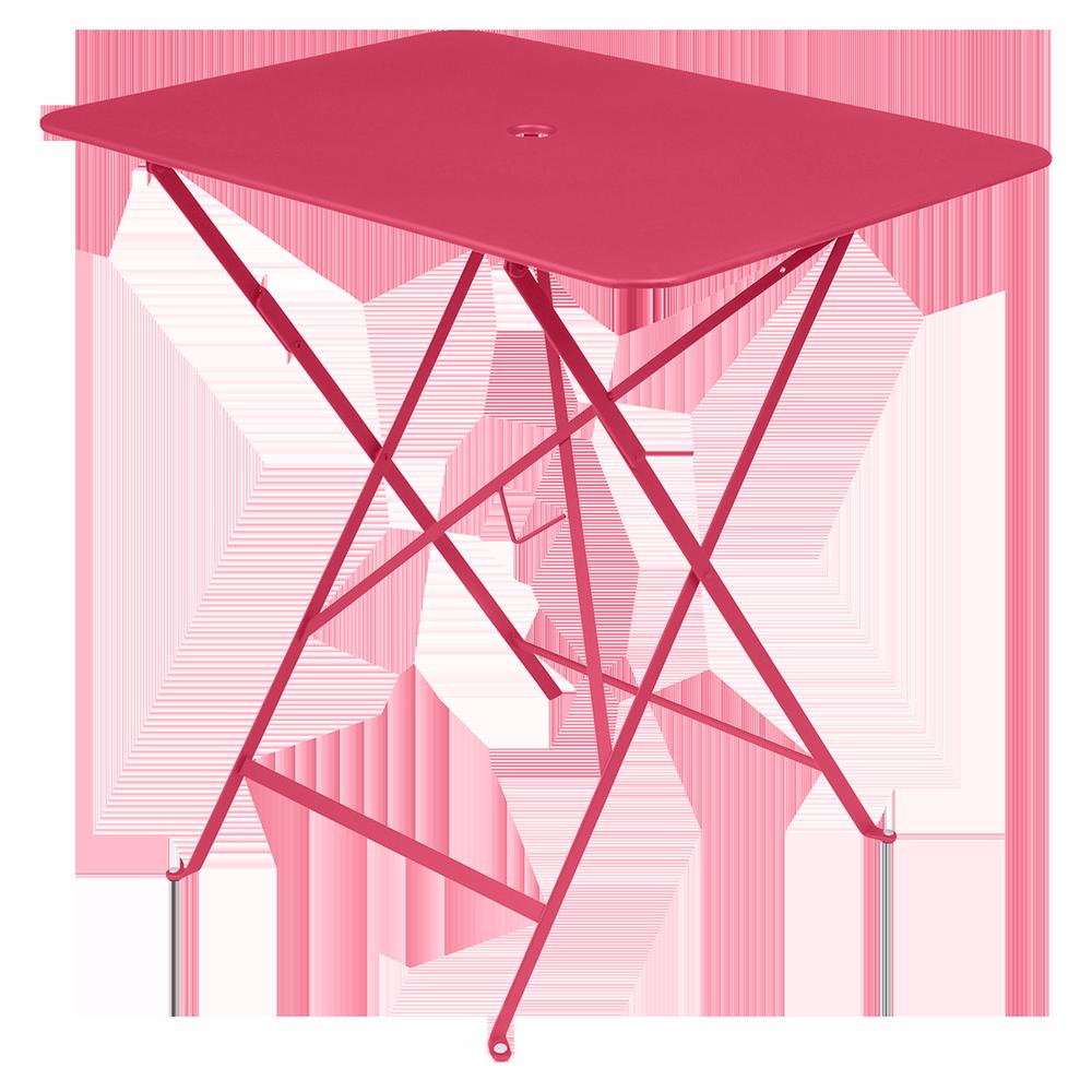 Wetterfeste Bistrotische 77 x 57 cm klappbar Metall fermob rose praline rosa