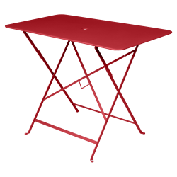 Wetterfester Tisch Bistro in 97cm x 57cm von Fermob in Mohnrot