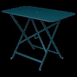 Wetterfester Tisch Bistro in 97cm x 57cm von Fermob in Acapulcoblau