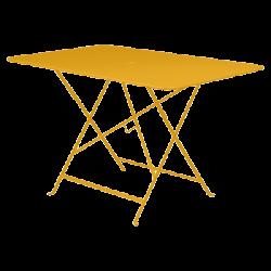 Wetterfeste Bistrotische 117 x 77 cm klappbar Metall fermob honig