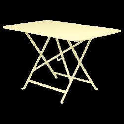 Wetterfester Tisch Bistro in 117cm x 77cm von Fermob in Zitronensorbet