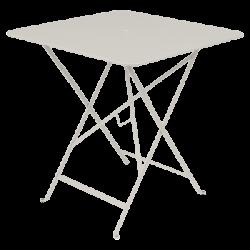 Wetterfester Tisch Bistro in 71cm x 71cm von Fermob in Lehmgrau