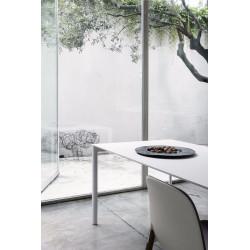 Ausziehbarer Tisch Maki von Kristalia mit 80cm Breite in weiß