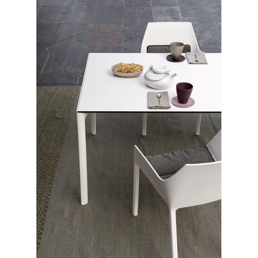 Ausziehbarer Tisch Maki von Kristalia mit 80cm Breite in Fenix weiß