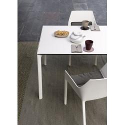 Ausziehbarer Tisch Maki von Kristalia mit 100cm Breite in Fenix weiß