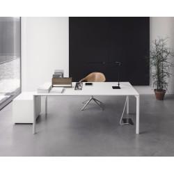Ausziehbarer Tisch Maki von Kristalia mit 100cm Breite in Pure-White im Innenbereich