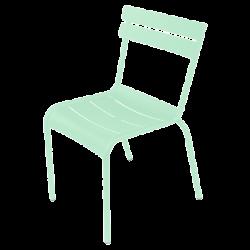 Stapelbarer Stuhl Luxembourg aus Aluminium von Fermob in Opalgrün