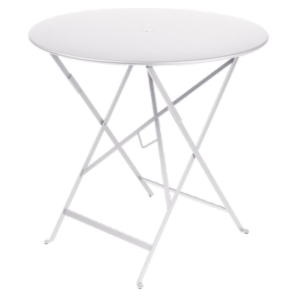 Wetterfeste Bistrotische rund ø 77 cm klappbar Metall fermob weiß