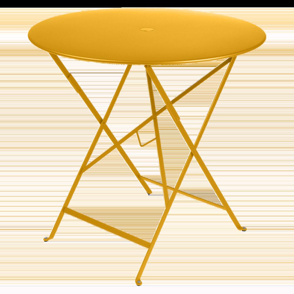 Wetterfeste Bistrotische rund ø 77 cm klappbar Metall fermob honig