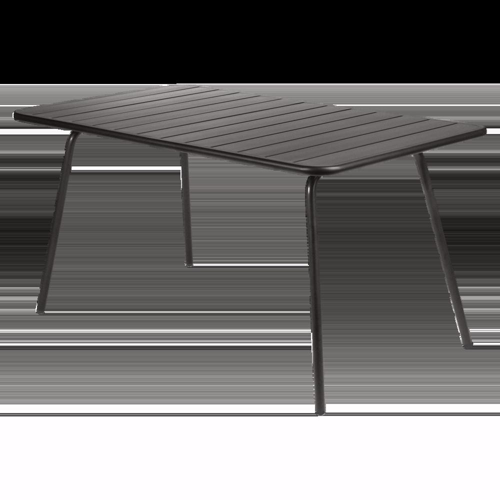 Wetterfester Tisch Luxembourg aus Aluminium von Fermob in Lakritze