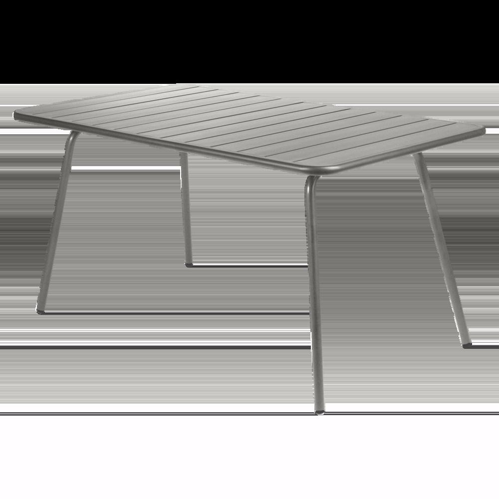 Wetterfester Tisch Luxembourg aus Aluminium von Fermob in Metallgrau