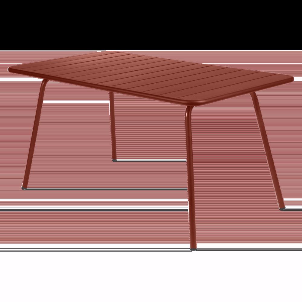 Wetterfester Tisch Luxembourg aus Aluminium von Fermob in Ocker