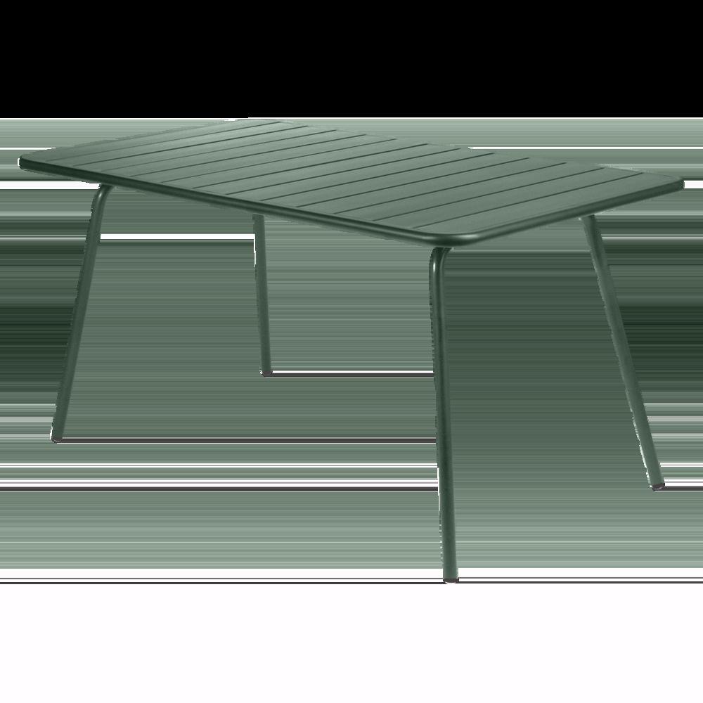 Wetterfester Tisch Luxembourg aus Aluminium von Fermob in Zederngrün