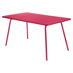 Wetterfester Tisch Luxembourg aus Aluminium von Fermob in Rose Praliné