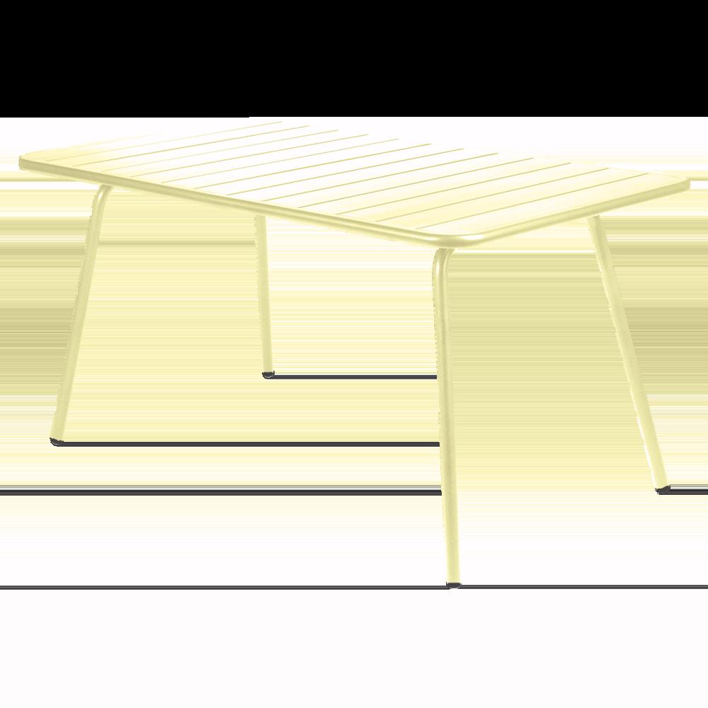 Wetterfester Tisch Luxembourg aus Aluminium von Fermob in Zitronensorbet