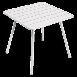 Wetterfester Tisch Luxembourg aus Aluminium von Fermob in Baumwollweiß