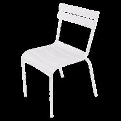 Stapelbarer Stuhl Luxembourg aus Aluminium von Fermob in Baumwollweiß