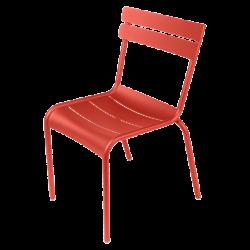 Stapelbarer Stuhl Luxembourg aus Aluminium von Fermob in Capucine