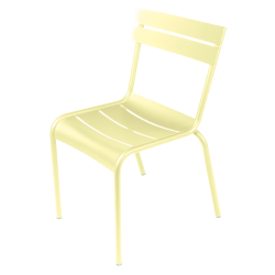 Stapelbarer Stuhl Luxembourg aus Aluminium von Fermob in Zitronensorbet