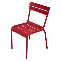 Stapelbarer Stuhl Luxembourg aus Aluminium von Fermob in Mohnrot