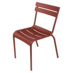 Stapelbarer Stuhl Luxembourg aus Aluminium von Fermob in Ocker