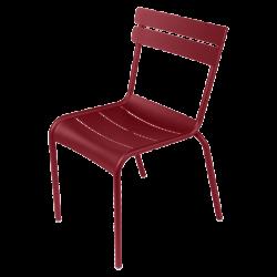 Stapelbarer Stuhl Luxembourg aus Aluminium von Fermob in Chili
